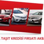 Akbank Toyota Taşıt Kredisi Fırsatı